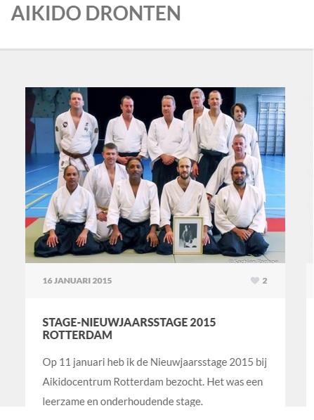 Verslag op website Aikido Dronten, www.aikidodronten.nl