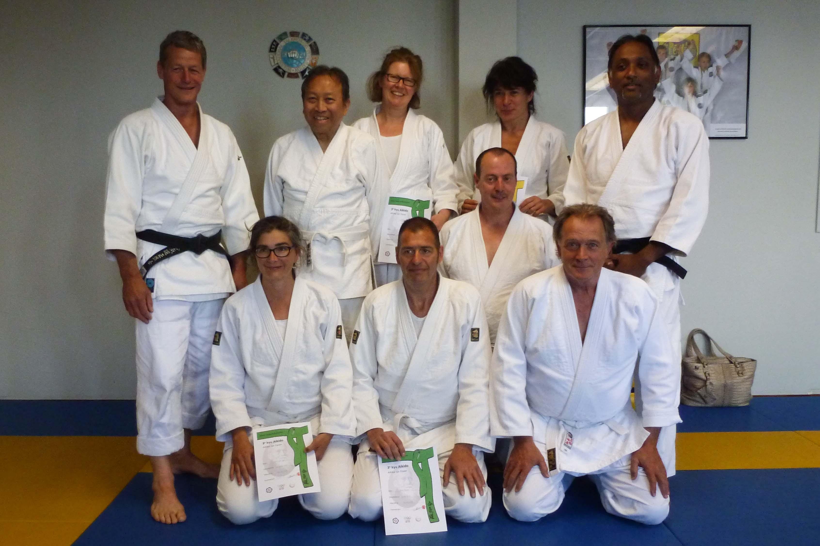 Aikido Centrum Schiedam examens d.d. 30-5-2015