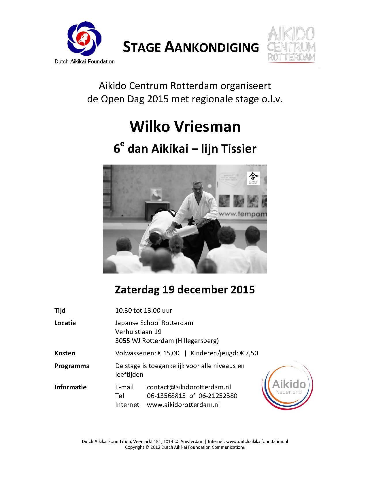 Stage Aankondiging ACR stage 19-12-2015 Wilko Vriesman